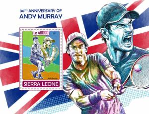 Z08 SRL171001b Sierra Leone 2017 Andy Murray MNH ** Postfrisch