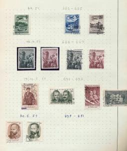 Czechoslovakia 1951/52  M&U Blocks Sheets (Appx 100+Items) (Ref DD543