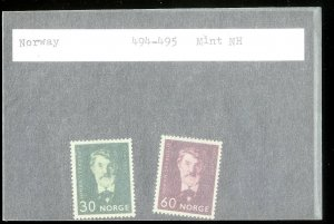 NORWAY Sc#494-495 MINT NEVER HINGED Complete Set