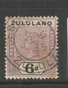 ZULULAND  1894-96  6d  QV  FU  SG 24