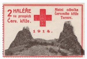 (I.B-CKK) Czechoslovakia (Great War) Cinderella : Red Cross Charity 2h (Turnov)