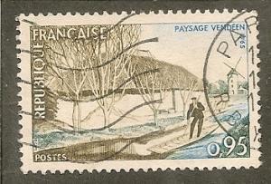 France   Scott 1129         River, Windmill             Used