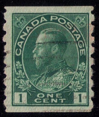 CANADA Sc 126 Used  PERF 8 VERTICALLY VF