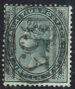 MAURITIUS 1879 QV 13C USED