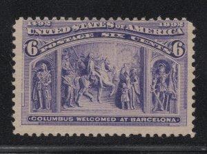 US Stamp Scott #235 Mint Never Hinged SCV $140