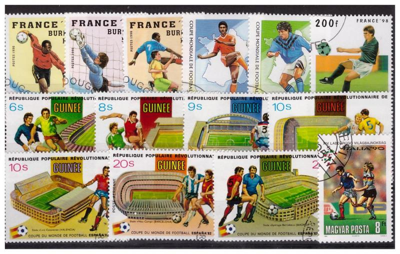 FOOTBALL(SOCCER) 50 different stamps used
