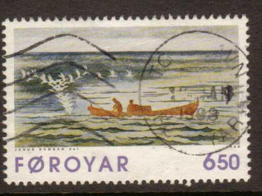 Faroe Islands   #308  used  (1996)  c.v. $2.25