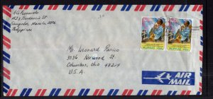 Philippines to Columbus,OH Airmail Cover