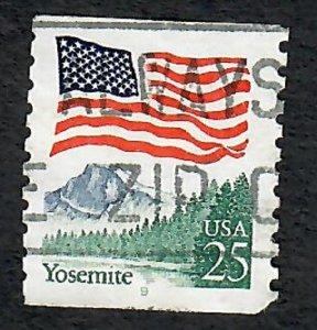 US #2280a Yosemite Flag Used PNC Single prephosphor plate #9
