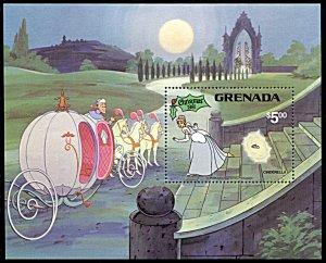 Grenada 1072, MNH, Disney Christmas Cinderella souvenir sheet