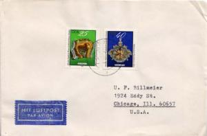 Germany D.D.R., Airmail, Mining, Art