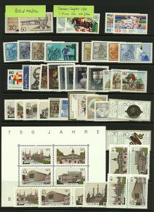 Germany Berlin 1989/90 complete collection of commemorative sets with def Stamps