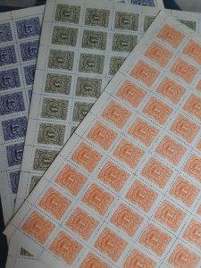 1899 El Salvador postage due uncut,full sheet ! MINT!