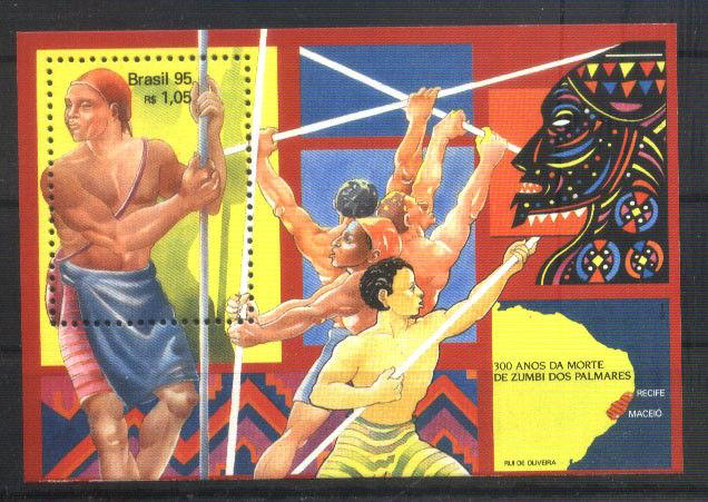 BRASIL BRAZIL1995 SLAVES FIGHT S/S YV BL 99 MI 100 MNH