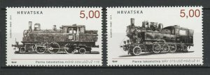 Croatia 2014 Trains Locomotives / Railroads 2 MNH stamps