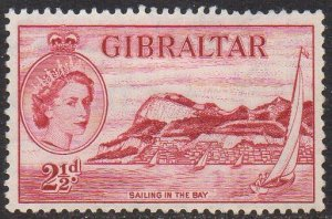 Gibraltar 1953 2½d Sailing in the Bay MH