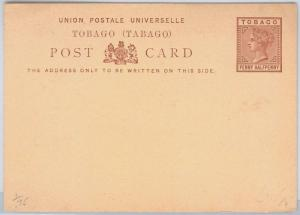TOBAGO -  POSTAL STATIONERY CARD: Higgings & Gage # 1