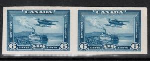Canada #C6P Extra Fine Proof Pair On Card