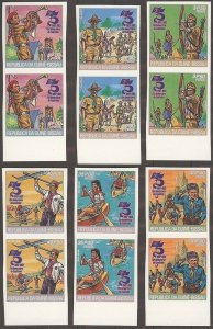 1982 Guinea-Bissau Scouts 75th anniversary IMP pairs