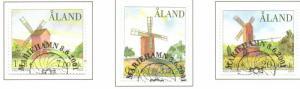 Aland Finland Sc 188-90 2001 Windmills stamp seet used
