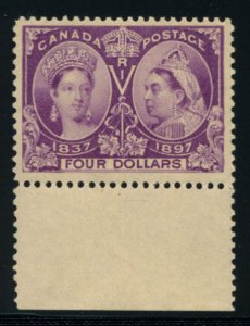 CANADA: Sc.#64  **  $4.00 Purple, SPECTACULAR example of this EXTREMELY RARE ...