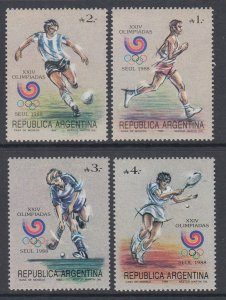 Argentina 1625-1628 Summer Olympics MNH VF