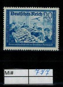 Deutschland Reich TR02 DR Mi 777 1938 Reich Postfrisch ** MNH