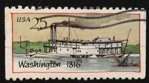 US #2408 Used F - Washington 1816 Steamboat