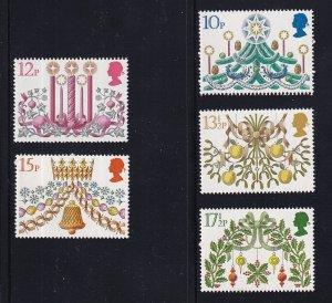 Great Britain  #928-932  MNH  1980  Christmas