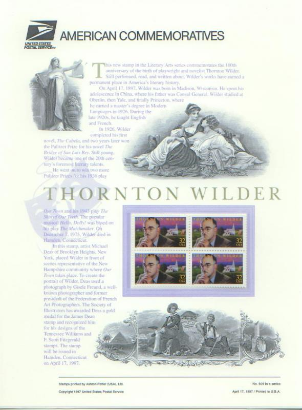 Thornton Wilder, Set 4  (USCP3134)