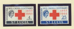 St. Lucia Scott #180 To 181, Two Stamp Red Cross Centenary