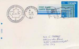 Canada, Government Postal Card, Flags, Canada British Columbia