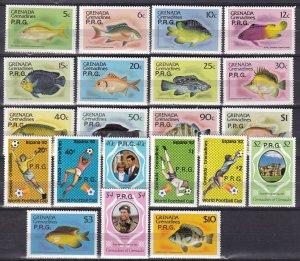 Grenada Grenadines #O1-O21 MNH CV $16.70 (Z7868)