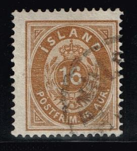 Iceland SC# 12 Used - Perf 14 x 13.5 - Lot 72515(2)