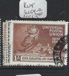 KENYA,UGANDA, TANGANYIKA  (P2103B)  KGVI UPU SG 159-162   VFU