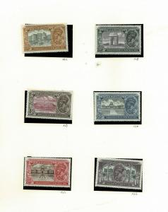 India 1931 King George new delhi  Set Mint SG226-231