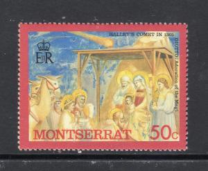 MONTSERRAT #635 MNH VF Halleys Comet/Adoration of the Magi