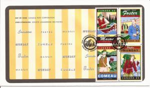 1998 Canada FDC Sc 1753a - Legendary Canadians