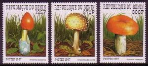 Benin Fungi 3v SG#1698=1702 MI#989-993