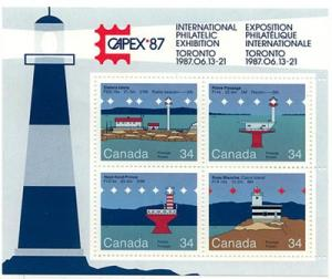 Canada - 1985 Lighthouse Souvenir Sheet - #1066b - Mint VF-NH