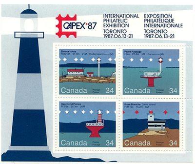 Canada - 1985 Lighthouse Souvenir Sheet - #1066b - Mint VF-NH