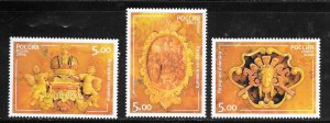 Russia #6841-43 MNH Set of 3 Amber Room State Museum (my6)