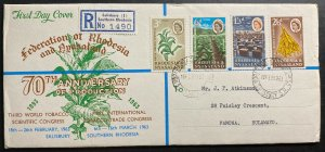 1963 Bulawayo Southern Rhodesia First Day Cover FDC Tobacco Scientific Congress