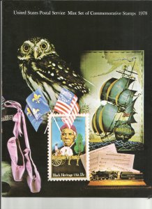 US 1978 Mint Commemorative Year Set As issued by USPS