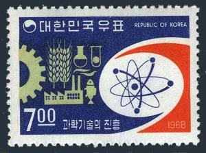 Korea South 604,MNH.Michel 614. Atom diagram and symbols of development,1968.