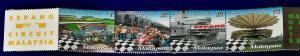 Malaysia Scott # 752 Malaysian Grand Prix 1999 Stamp Set MNH