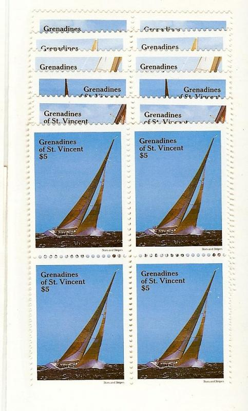 St. Vincent (Gren.), 579-84, America's Cup Blocks(4), MNH