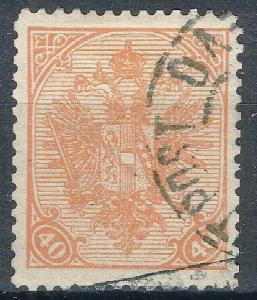 OLD AUSTRIA BOSNIA 1900. ISSUE 40 heler RIBBED PAPER  USED