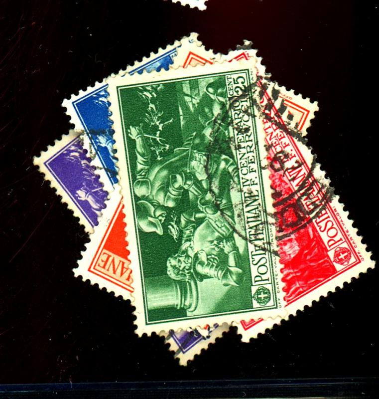 Italy #242-6 Used F-VF Cat$147