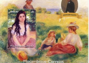 Mozambique 2004 RENOIR Paintings & Edouard Manet s/s Perforated Mint (NH)